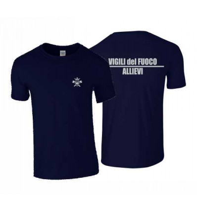 T-SHIRT ALLIEVO NAVY 100% COTONE STAMPA ARGENTO